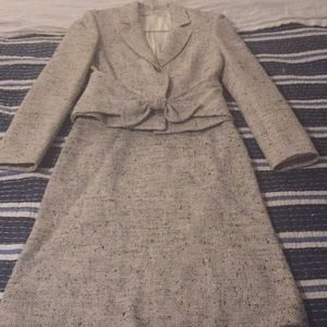Valentino 100% silk tweed skirt suit size 6 for sale